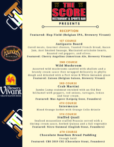 Craft Beer Dinner 🍻 @ The Score Restaurant & Sports Bar | Grand Rapids | Michigan | United States